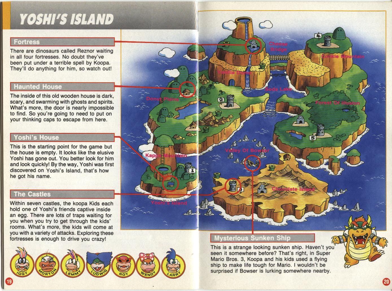 Yoshi S Island Map